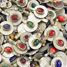 10 Real Jeweled Coins Tribal Belly Dance KUCHI Tribe - Mixed Colors