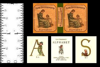 1:12 SCALE MINIATURE BOOK KATE GREENAWAY'S ALPHABET