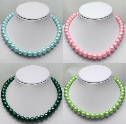 Perlen-Ketten Glaswachs-Perlen-Kette 1 Stück 45 cm lang P Ø 12 mm neu 4 Farben