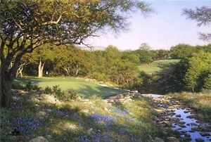 Evening-Shadows-by-Larry-Dyke-SN-Limited-Edition-Golf-Landscape-Lithograph