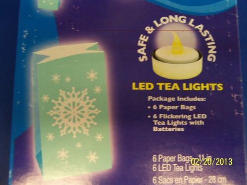 Snowflake LED Luminaries Blue Pathway Markers Christmas Holiday Party Decoration