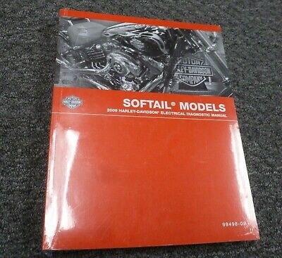2009 Harley Davidson Softail Motorcycle Electrical Wiring Diagrams Manual New Ebay