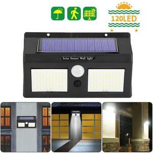 120-Lampe-Solaire-LED-Detecteur-de-Mouvement-Spots-Exterieur