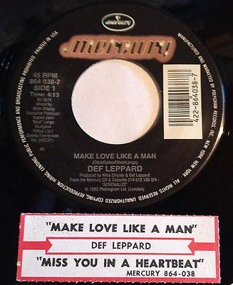 Def Leppard 45 Make Love Like A Man / Miss You In A Heartbeat w/ts NM | eBay