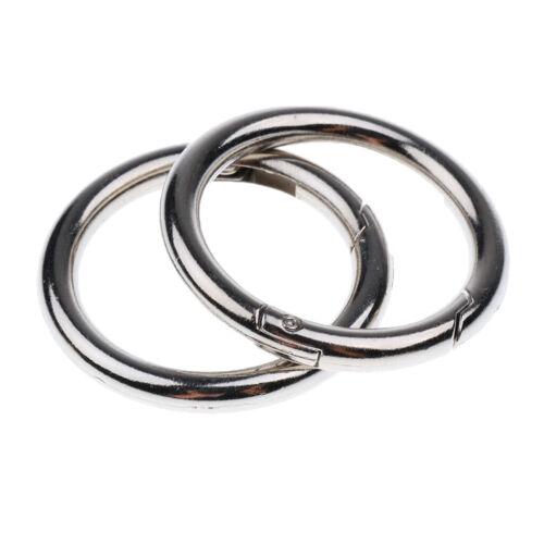 5x40mm Karabiner Taschenringe Schlüsselanhänger Schnapphaken für Handtasche