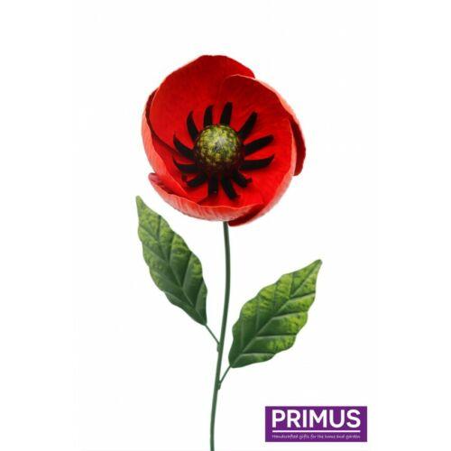 PRIMUS HAND CRAFTED MEDIUM METAL POPPY GARDEN STAKE