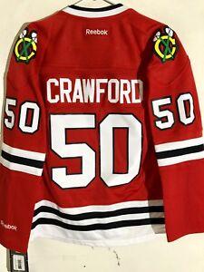ca4b6b05ba2 Reebok Women s Premier NHL Jersey Chicago Blackhawks Crawford Red sz ...