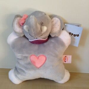 Adele-The-Elephant-Soft-Toy-with-Rattle-inside-by-Nattou-New-With-Tags