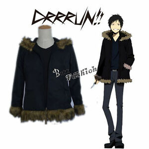 Anime-DuRaRaRa-Orihara-Izaya-Party-Cosplay-Costume-Men-Coat-Inner-Tops-Black