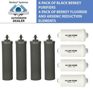 4-Black-Berkey-and-4-PF-2-Fluoride-Filters-Big-Travel-Royal-Crown-Imperial-BB9