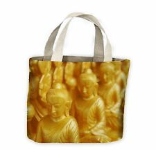 Golden Buddha Statues Tote Shopping Bag For Life - Buddhist Buddhism