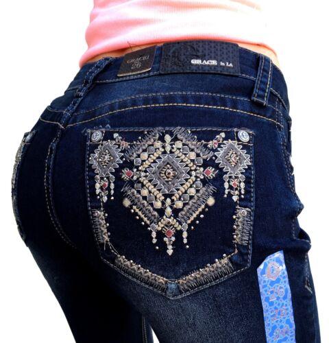 Grace Midrise 30 Bootcut 32 In Aztec Jeans 29 34 Mørk La 33 27 Easy 26 28 31 r1wqrtfx