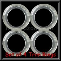 Set Of 4 15x8 Stainless Steel Trim Rings Beauty Rings Cutlass Rally Wheel 15 X 8