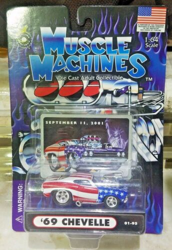 2001 STARS /& STRIPES 1:64 MUSCLE MACHINES /'69 CHEVY CHEVELLE SEPTEMBER 11
