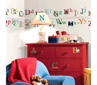 Wall Sticker 73 Pc Alphabet Letters Reusable Children Room Decor