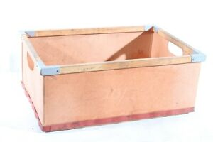 Old Box Cardboard Wood Riveted Old Vintage Transport Box Red Hard Cardboard