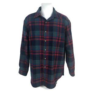Pendleton-Men-039-s-100-Virgin-Wool-Button-Down-Plaid-Shirt-Made-In-USA-Size-XL