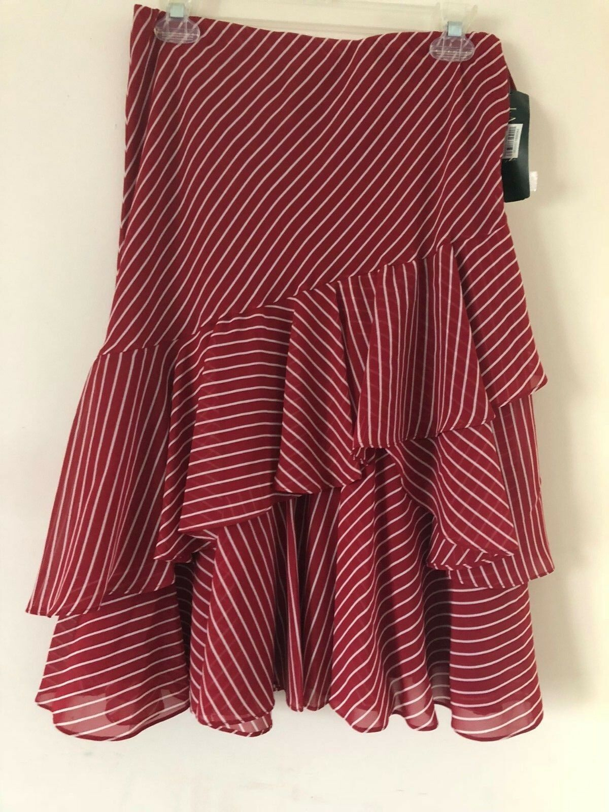 Ralf Lauren Womens Skirt color Red Striped Size XS NWT