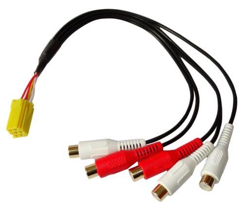 5x rca para autoradio amplificador Conector enchufe Adaptador Mini ISO 6pin