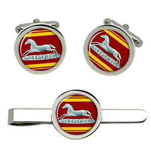 Prince-of-Wales-039-s-Own-Regiment-of-Yorkshire-Army-Cufflinks-and-Tie-Clip-Set