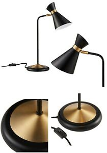 Details About Mid Century Modern Style Black And Gold Table Desk Lamp