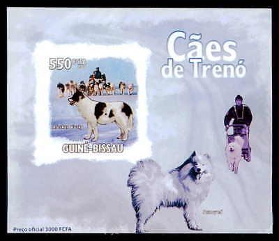 Guinea-bissau Epreuve De Luxe Schlittenhunde Huskies Hund Dogs Deluxe Sheet Dr38 Modern Und Elegant In Mode