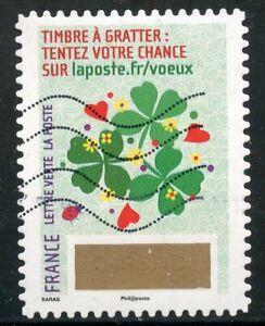 Brillant France Autoadhesif Oblitere N° 1346 // Timbre De Voeux