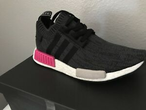 16924be51a1e8 Adidas NMD R1 PK primeknit BB2364 core black shock pink womens sz ...