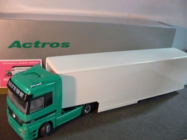 NZG MB ACTROS volume VALIGIA-Trailers verde BIANCO 422