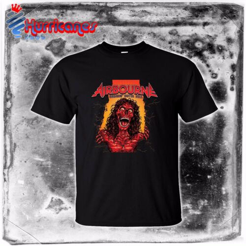 new AIRBOURNE Breakin/' Outta Hell Rock metal band AC//DC mens S to 4XLT