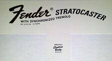 Décalque decal Stratocaster Strat 1968- 1970 idem original super qualité !!!