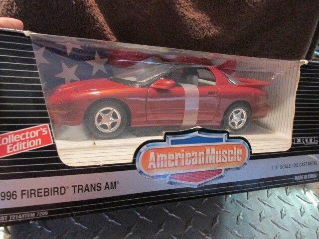 stanno facendo attività di sconto 1996 96 Pontiac Firebird Trans Am 1 18 American Muscle Muscle Muscle rossoish Marroneee Vedi Pic  prezzi bassissimi