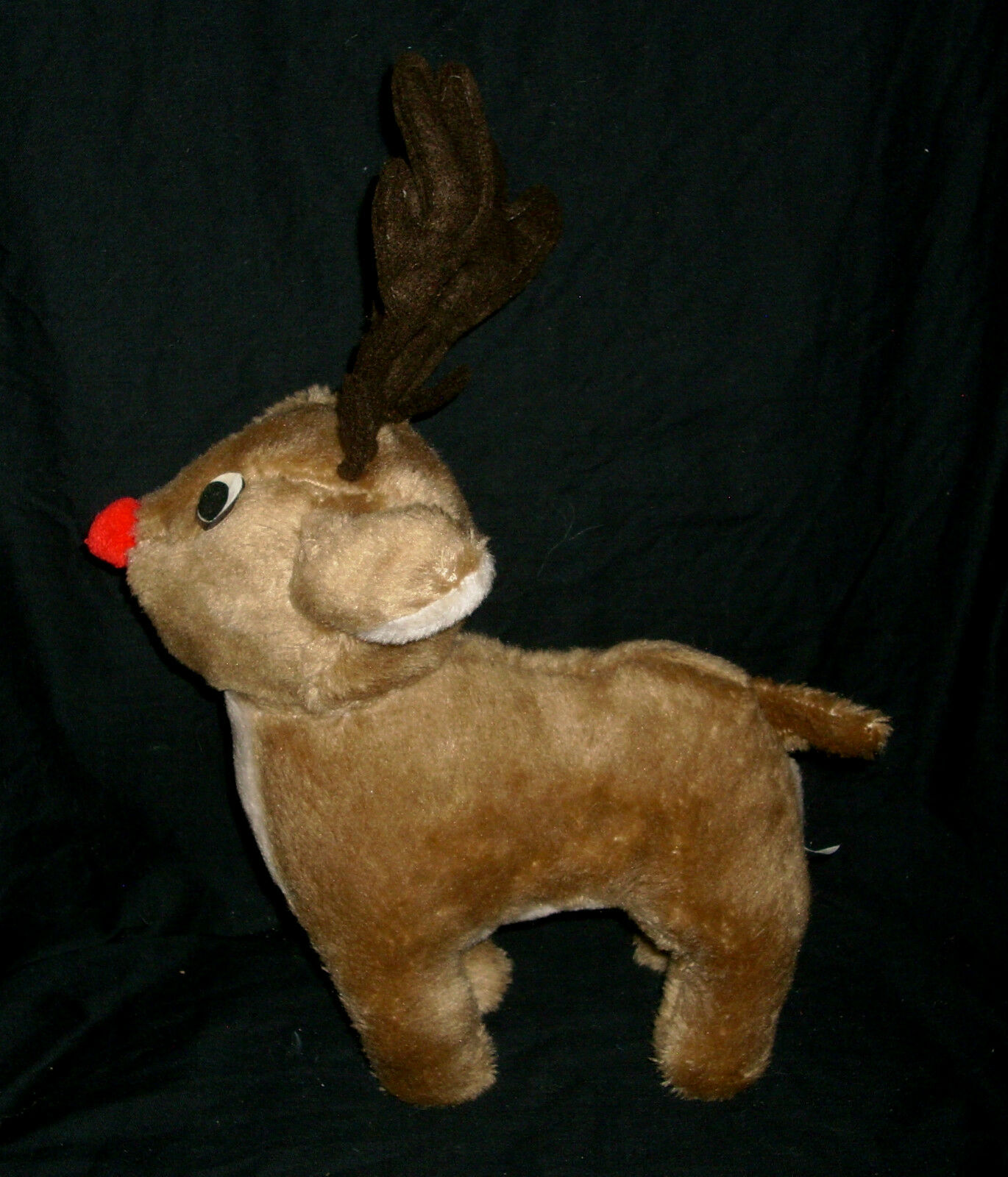 12  RUDOLPH THE RED NOSED REINDEER CHRISTMAS TAIWAN STUFFED ANIMAL PLUSH TOY M