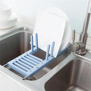 Kitchen-Rack-Storage-Box-Washing-Holder-Suction-Cup-Brush-Sponge-Sink-DrainingLE