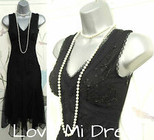 Principles - 20's Vintage Style Gatsby, Flapper, Charleston Dress 6 EU34 Petite