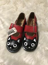 TREDAIR DR. MARTENS ENGLAND RED BLACK WHITE CAT MARY JANES LOAFERS SZ 5 New