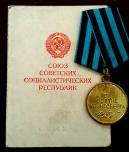 Russian-Medal-039-For-the-Capture-of-Koenigsberg-039-with-Original-Document-1946