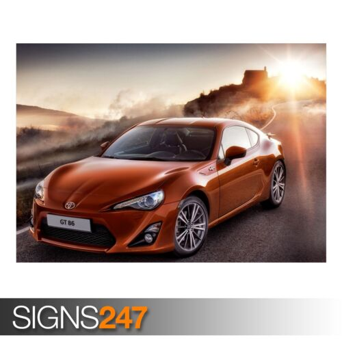 CAR POSTER Photo Picture Poster Print Art A0 A1 A2 A3 A4 AA391 TOYOTA GT 86