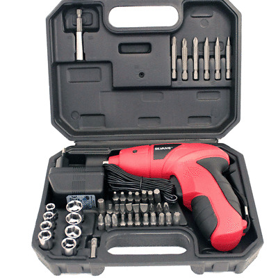 Destornillador atornillador inalambrico bateria recargable 44 puntas 4,8V DC