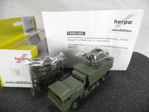 ht332 Roco Minitanks NEU! Herpa 740692 MAN Roland LVM Carola missile system