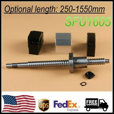 CNC Ballscrew End machined SFU1605 with Nut Housing /& BK//BF12 Support 250-1550mm