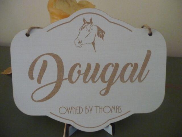 Personalised Horse Name Slate heart Horse Stable Plaque Horseshoe Horse Riding