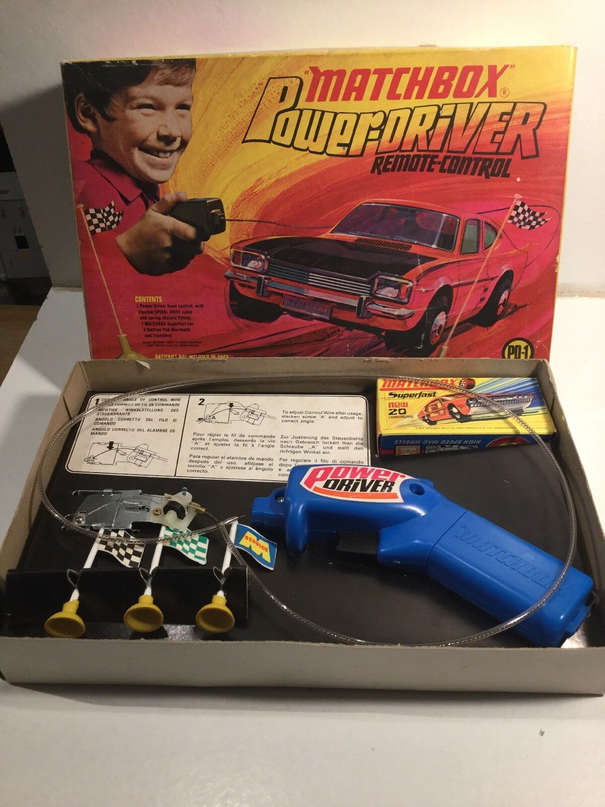 Vintage 1970's Matchbox Superfast Power Driver Boxed, Complete & Working