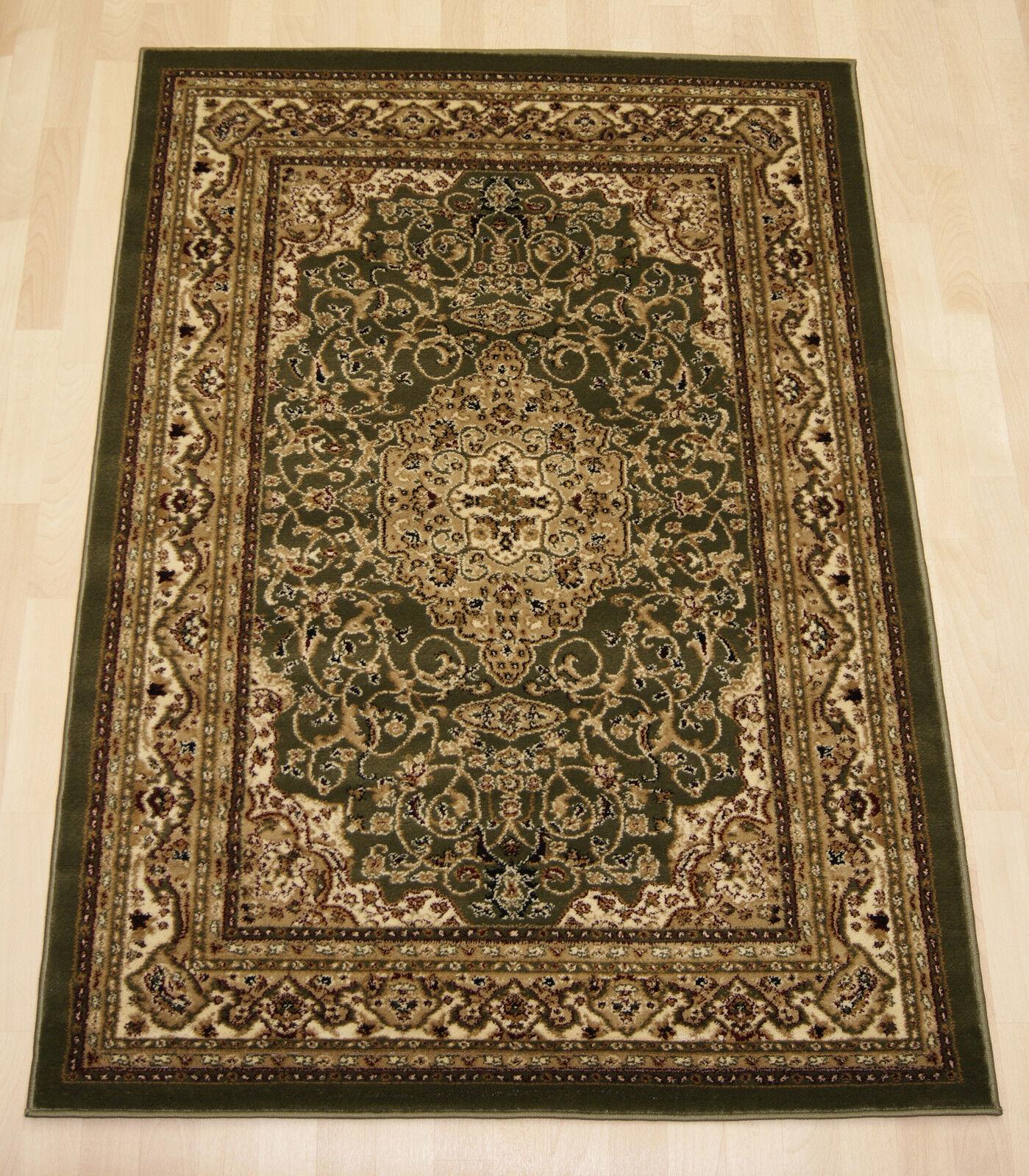 Persian Oriental Vert Crème Floral Silk Small Small Small Medium Extra Large Tapis 240x330cm   Porter-résistance  d9b7d7
