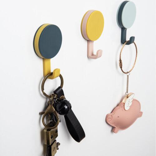 8Pcs//set Strong Self Adhesive Round Hooks Kitchen Bathroom Stick On Wall Door