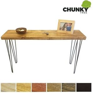 Image Is Loading CONSOLE TABLE RUSTIC CHUNKY SIDE TABLE 10X2 DRESSING