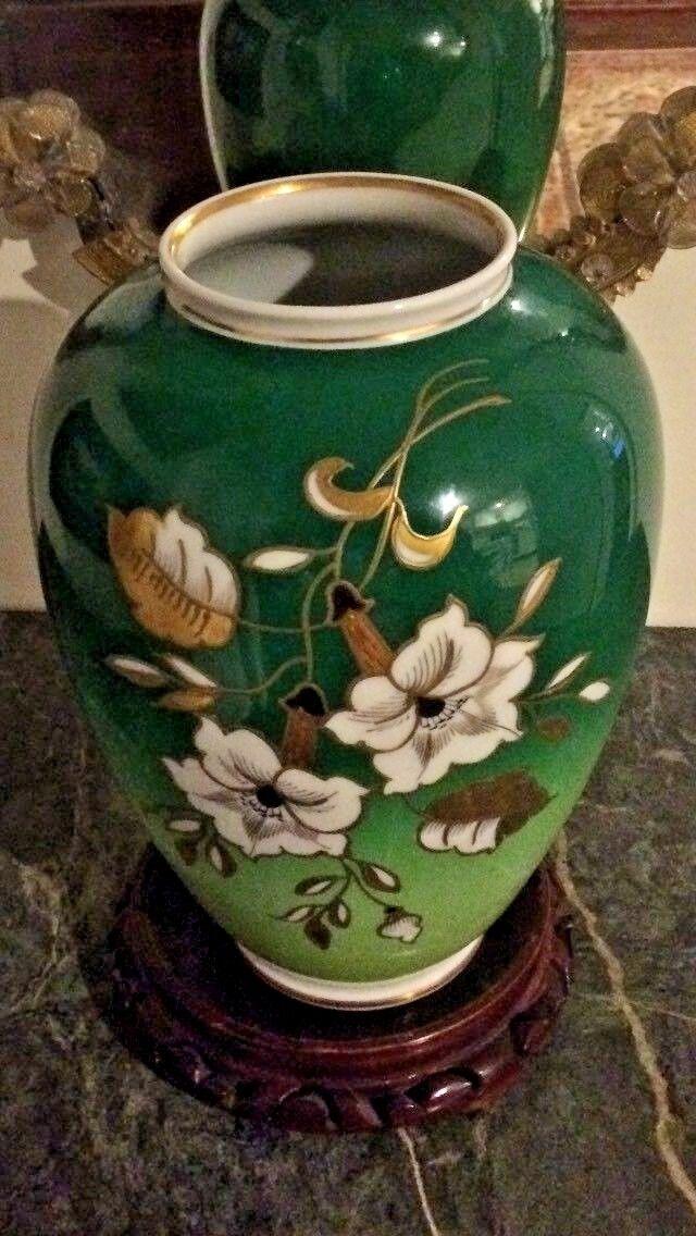 Vtg Grün Wallendorf 1764 Porcelain Floral Vase made in Germany, GDR