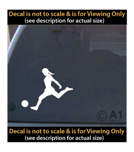 woman soccer player 6 inch decal 4 car truck home laptop fun more SPT/_70