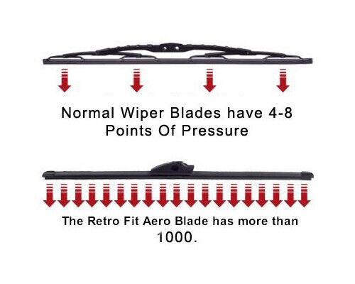 21//19 Aero-D Flat Windscreen Wipers Blades Washer For Skoda Octavia 96-04 Mk1