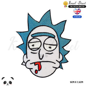 Rick-And-Morty-Embroidered-Iron-On-Sew-On-Patch-Badge-For-Clothes-Bags-Etc
